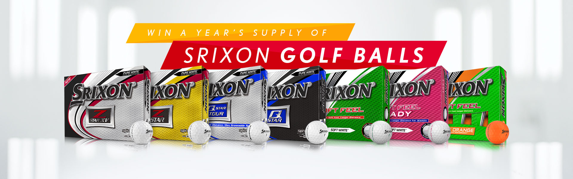Win A Years Supply of Srixon Golf Balls