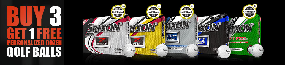 Buy 3 Get 1 Free Personalized Dozen Golf Balls