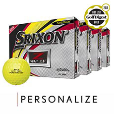 Z-STAR XV GOLF BALLS - BUY 3 GET 1 FREE,Tour Yellow