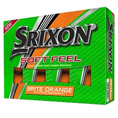 SOFT FEEL BRITE GOLF BALLS,brite-orange