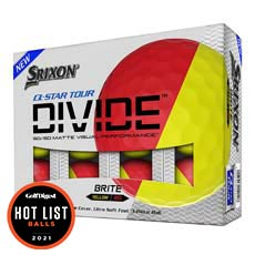 Q-STAR TOUR DIVIDE GOLF BALLS,Red