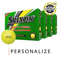 SOFT FEEL GOLF BALLS - BUY 3 GET 1 FREE,Tour Yellow