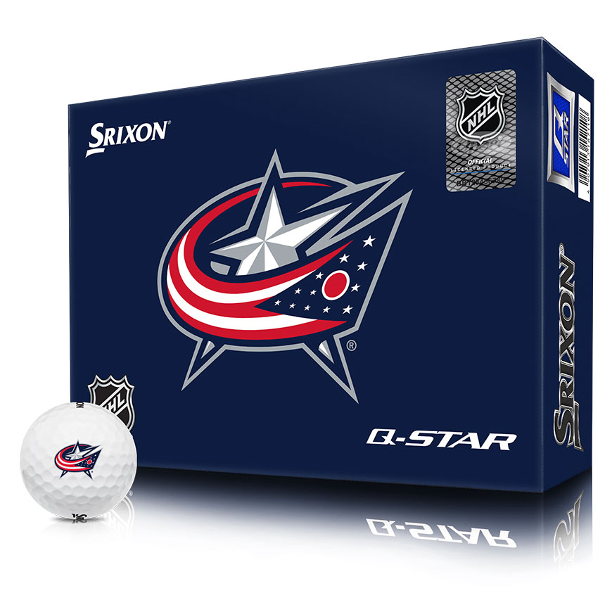 NHL LOGO Q-STAR GOLF BALLS,Columbus-Blue-Jackets