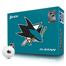 NHL LOGO Q-STAR GOLF BALLS,San-Jose-Sharks
