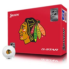 NHL LOGO Q-STAR GOLF BALLS,Chicago-Blackhawks