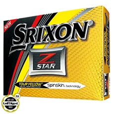 Z-STAR GOLF BALLS,Tour Yellow